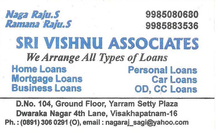 SRI VISHNU ASSOCIATES,SRI VISHNU ASSOCIATESFinance Companies